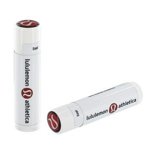 SPF 15 Lip Balm in White Tube w/ Full Color Dome on Lid